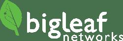 bigleaf logo white - green leaf